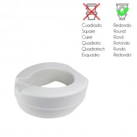 Rehausser WC en mousse souple   Sans couvercle   Rehausseur WC 11 cm