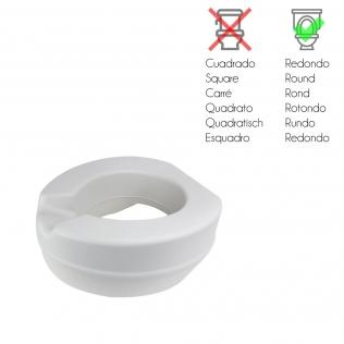 Rehausser WC en mousse souple | Sans couvercle | Rehausseur WC 11 cm