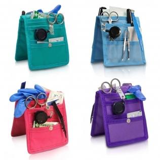 Pack de 4 pochettes d'infirmier pour blouse   Violet, rose, bleu et vert   Keens   Elite Bags