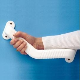 Barre d'appui courbée   Antidérapante   Blanche   45 x 25 cm