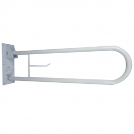 Double barre de sécurité pour salle de bain | Pliable avec porte-papier | Arco | Mobiclinic