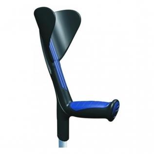 Béquille avec poignée ergonomique en caoutchouc | Aluminium | Bleu | Advance