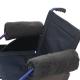 Paire de protège-accoudoirs pour fauteuil roulant | Couleur gris | Texture douce | 34 x 34 cm - Foto 1