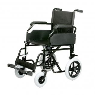 Fauteuil roulant de transit | Chaise roulante légère en acier et pliable | Largueur de siège 45 cm
