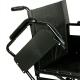 Fauteuil roulant de transit | Chaise roulante légère en acier et pliable | Largueur de siège 45 cm - Foto 2