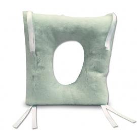 Coussin amortisseur anti-escarres   Forme carrée avec trou   Ortotex Medical