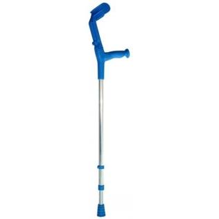 Canne canadienne   Béquille orthopédique   Double réglage   Bleu