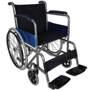 Fauteuil roulant pliable | Orthopédique | Léger | Noir | Alcázar | Mobiclinic
