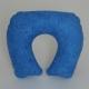 Oreiller de voyage | Pour le cou | Gonflable en tissu-éponge bleu - Foto 1