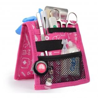 Organiseur de matériel infirmier pour blouse   Rose à motifs   Keen's de Mobiclinic   Elite Bags