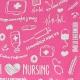 Organiseur de matériel infirmier pour blouse   Rose à motifs   Keen's de Mobiclinic   Elite Bags - Foto 7