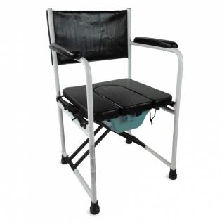 Chaise percée/toilette   Avec couvercle et pliage   Acier chromé   Ebro   Mobiclinic