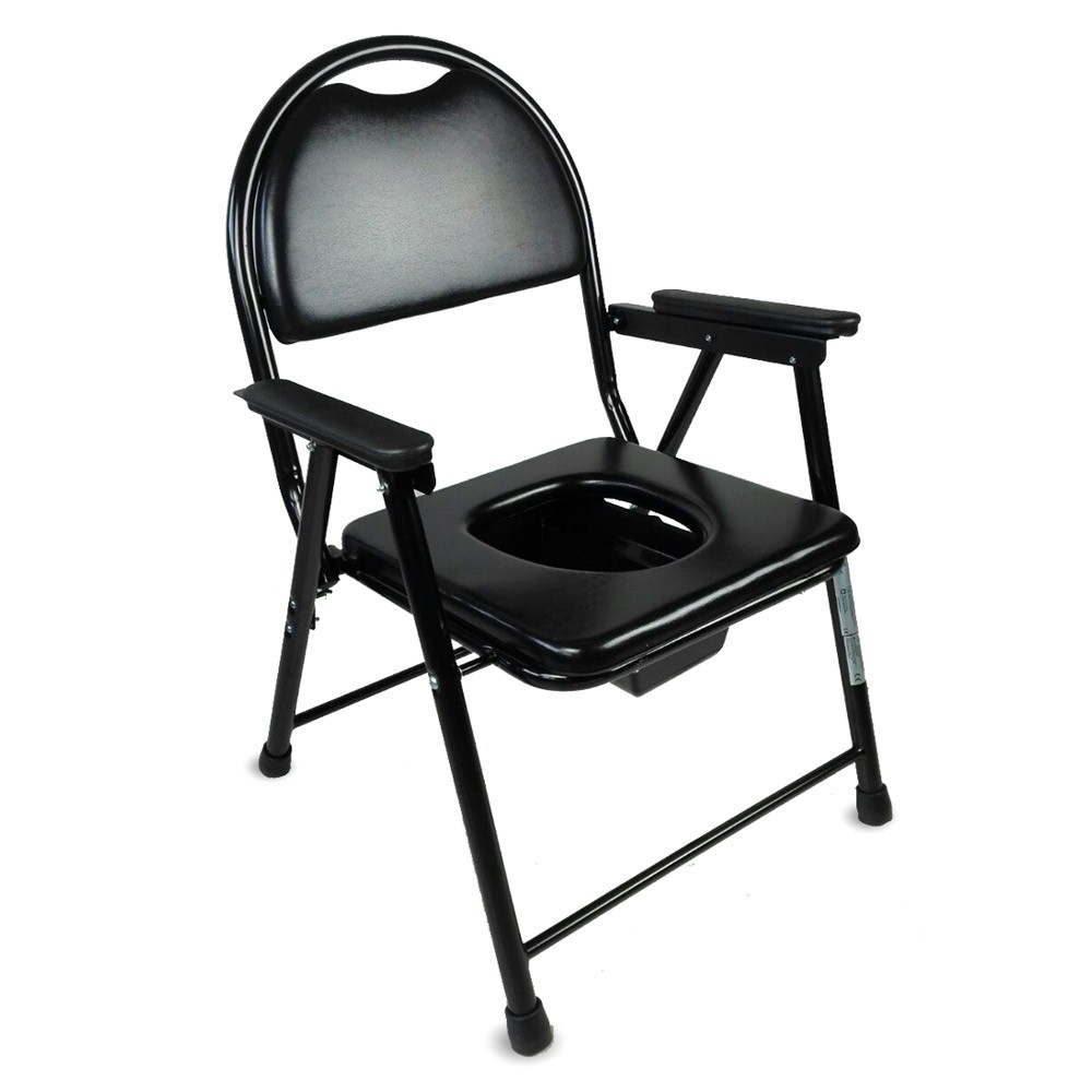 Chaise WC  Pliable  Noir  Acier chromé  Guadalquivir