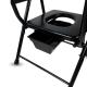 Chaise WC | Pliable | Noir | Acier chromé | Guadalquivir | Mobiclinic - Foto 4