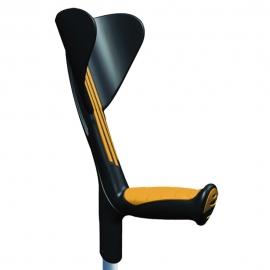 Béquille avec poignée ergonomique en caoutchouc   Aluminium   Orange   Advance