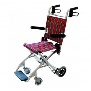 Fauteuil roulant pour le transport de patients   Pliable   Aluminium   Idéal
