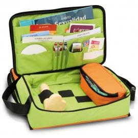 Kit d'éducation sexuelle | Orange et vert | EDUSEX´S | Elite Bags