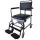 Chaise percée à roulettes | Chaise WC | Repose-pieds et accoudoirs | Modèle Cascata de Invacare - Foto 1