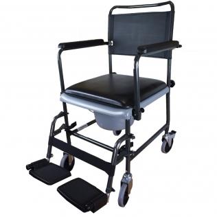 Chaise percée à roulettes | Chaise WC | Repose-pieds et accoudoirs | Modèle Cascata de Invacare