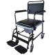 Chaise percée à roulettes | Chaise WC | Repose-pieds et accoudoirs | Modèle Cascata de Invacare - Foto 6
