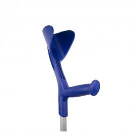 Béquille orthopédique pour la marche | Réglable en hauteur, poignée ergonomique | Aluminium | Bleu | Evolution Fun