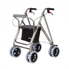 Déambulateur à 4 roues pliable   Déambulateur avec siège et panier   Freins   Gris   Mod. Kanguro Plus