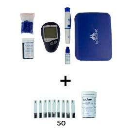 Lot glucomètre + bandelettes | Résultats instantanés | Pack économique | Mobiclinic