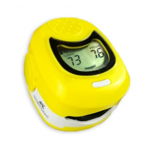 Oxymètre de pouls doigtier pédiatrique | Avec écran LCD | Fréquence cardiaque et graphique à barres | PX-03 | Mobiclinic