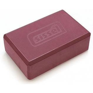Bloc de yoga, brique de liège naturel solide pour débutants et experts en yoga, Bordeaux, 23 x 12 x 7,5 cm (1 unité)