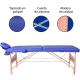 Table de massage pliante   Kinesithérapie   Bois   Revêtement similicuir   186x60 cm   Bleu   CM-01 Light   Mobiclinic - Foto 5