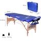 Table de massage pliante   Kinesithérapie   Bois   Revêtement similicuir   186x60 cm   Bleu   CM-01 Light   Mobiclinic - Foto 6