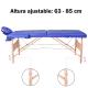 Table de massage pliante   Kinesithérapie   Bois   Revêtement similicuir   186x60 cm   Bleu   CM-01 Light   Mobiclinic - Foto 7