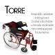 Fauteuil roulant léger VIP   Freins sur leviers et roues   pliable   aluminium   Torre   Mobiclinic - Foto 9