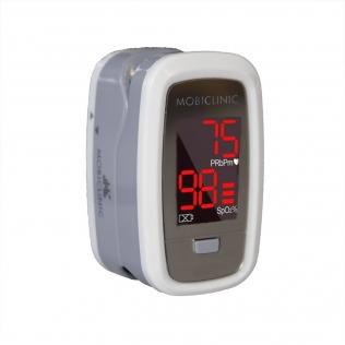 Oxymètre de pouls doigtier   Écran d'affichage OLED   Fréquence cardiaque et graphique de barres  PX-02   Mobiclinic