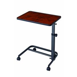 Table d'appoint | Pour lit, chaise ou canapé | Couleur noyer | Plateau 40 x 60 cm