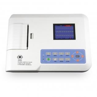 Electrocardiographe numérique   Portable à 3 chaînes   ECG   Écran LCD   Système d'impression   MB300G   Mobiclinic