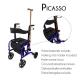 Déambulateur et fauteuil roulant pliable| 2 en 1 |4 roues | Hauteur réglable avec panier et siège | Bleu | Picasso | Mobiclinic - Foto 5