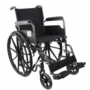 Fauteuil roulant pliable PREMIUM   Acier   Repose-pieds et accoudoirs amovibles   S220 Sevilla   Mobiclinic
