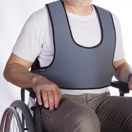 Harnais veste de soutien de type plastron pour fauteuil roulant