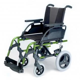 Fauteuil roulant Breezy Style   (anciènne 300)   couleur vert pomme   Aluminium   Petite roue