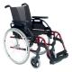 """Fauteuil roulant Breezy Style (ancien 300) en aluminium rouge avec roue de 24"""" - Foto 1"""
