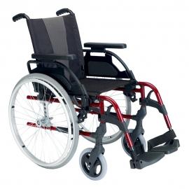 """Fauteuil roulant Breezy Style (ancien 300) en aluminium rouge avec roue de 24"""""""