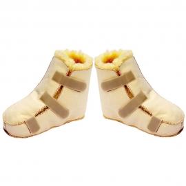 Paire de chaussons anti-escarre | Premium Lambskin | Laine naturelle
