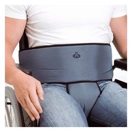 Ceinture abdominale de maintien pour fauteuil roulant | Avec boucles | Matériau respirant | En frome de T | Taille ajustable