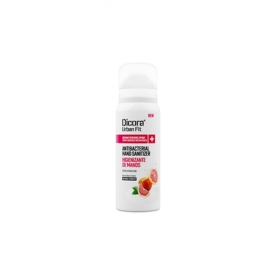 Spray désinfectant pour les mains 75 ml | Sans rinçage | Alcool à 70 % | Agrumes et Pêche | Dicora
