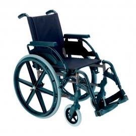 Fauteuil roulant   Chaise roulante pliante   En sélénium gris   Avec grandes roues   Breezy Premium