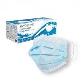 50 Masques chirurgicaux Type IIR | 0,13€/ pièce | Sans graphène | 3 couches | Jetables | 1 boîte de 50 pcs | Mobiclinic