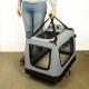 Sac de transport pour animaux de compagnie   Taille L   Supporte 15 kg   67x50x49 cm   Pliable   Gris   Balú   Mobiclinic - Foto 6
