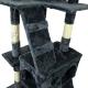 Arbre à chat   Grand   Grattoir   3 hauteurs   50x50x170cm   Gris   Tom  Mobiclinic - Foto 4