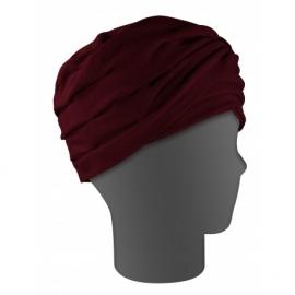 Foulard pour cheveux | Turban | Modèle Lys Bordeaux